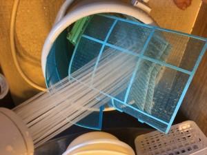 ホコリ、ダニを水洗い